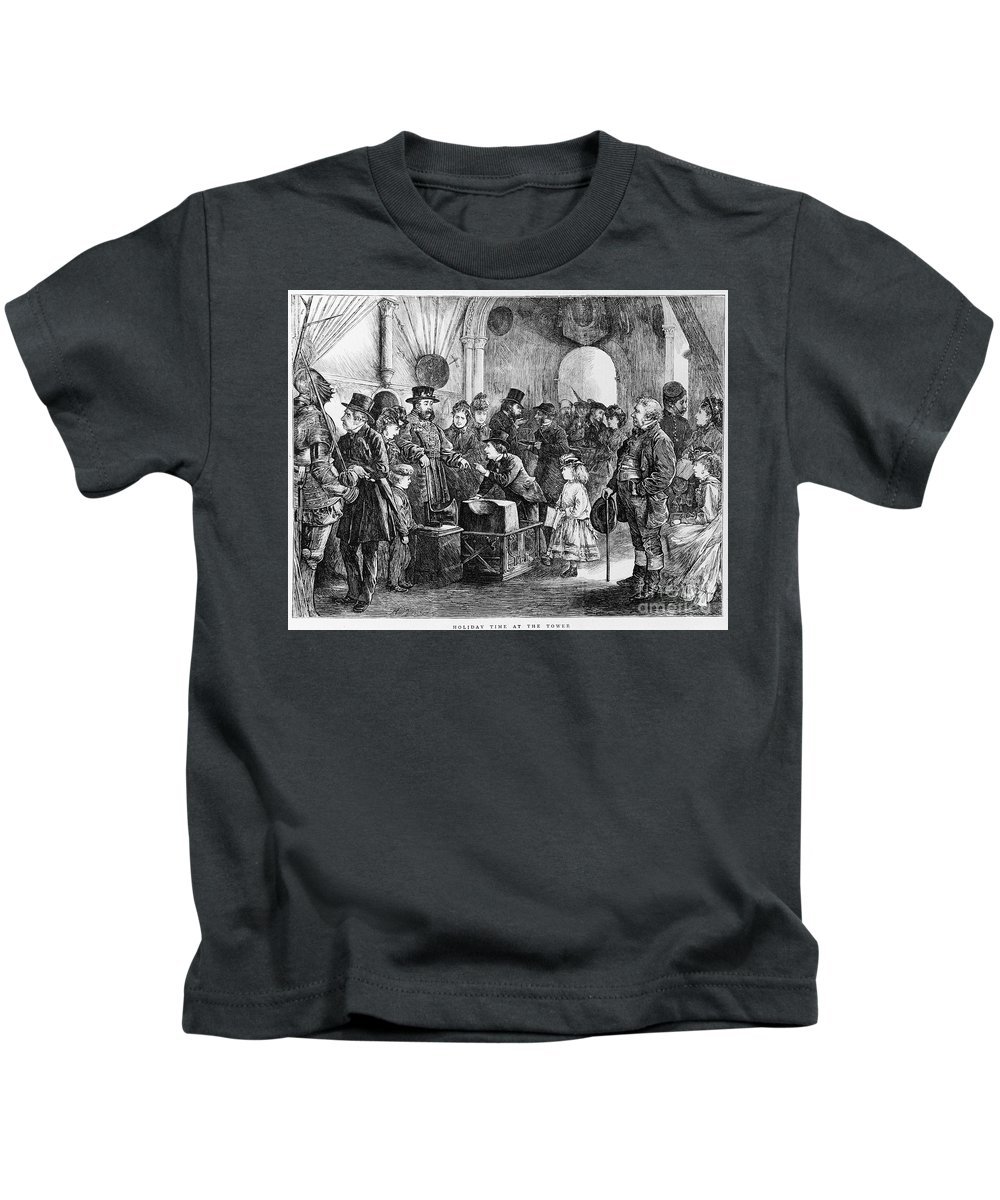1871 Kids T-Shirt featuring the photograph Tower Of London: Museum by Granger