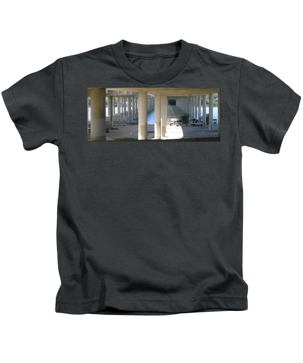 Kids T-Shirt featuring the photograph Under The Bridge by Amy Hosp