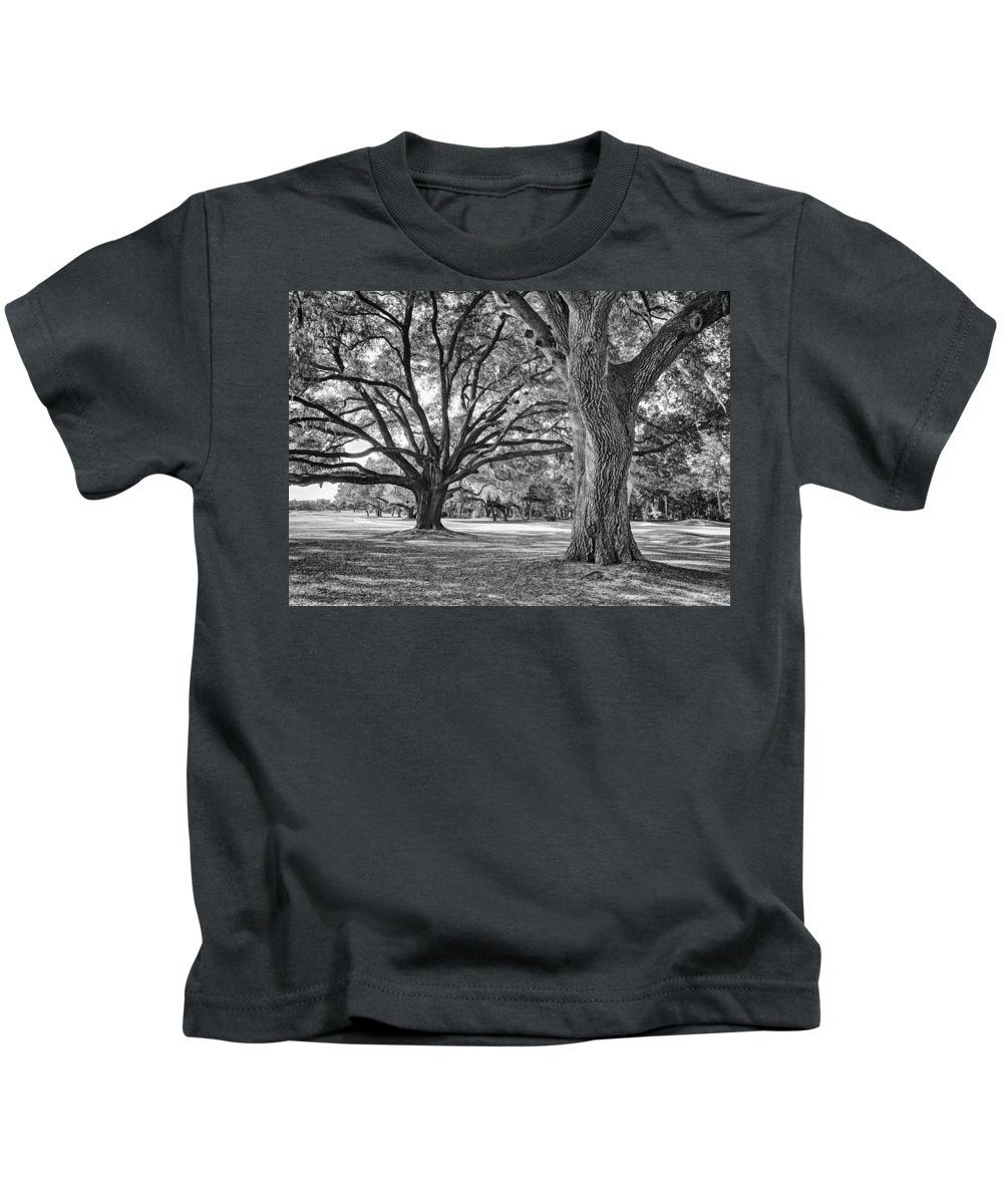 Beaufort County Kids T-Shirt featuring the photograph Under The Oaks by Phill Doherty