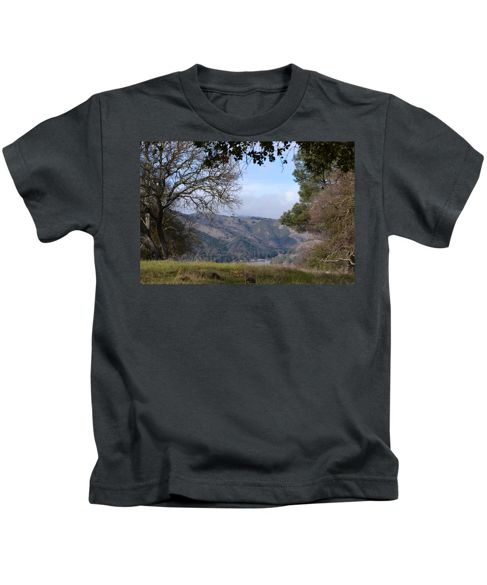 February Kids T-Shirt featuring the photograph Unnamed Trail by Karen W Meyer