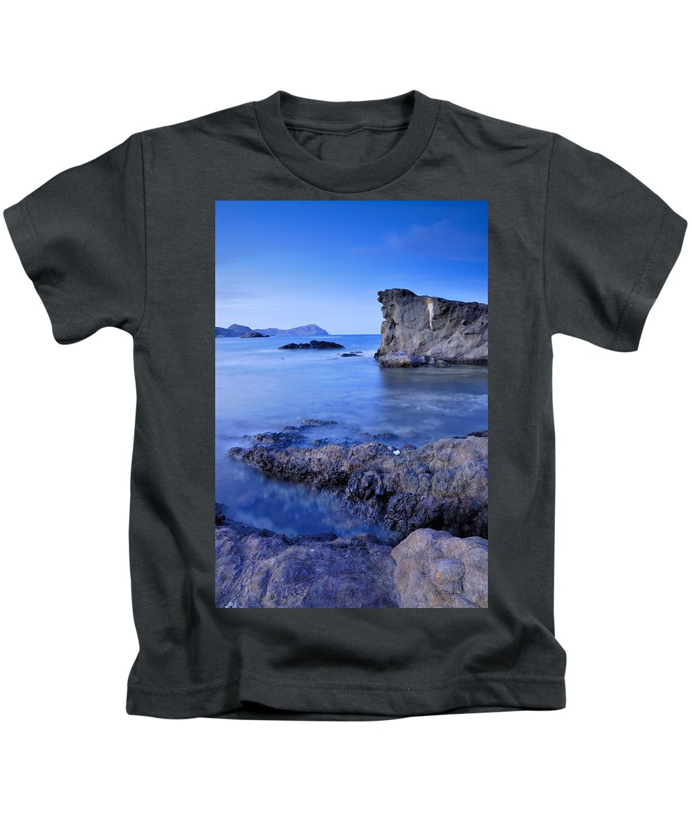 Seascape Kids T-Shirt featuring the photograph Volcanic Reef by Guido Montanes Castillo