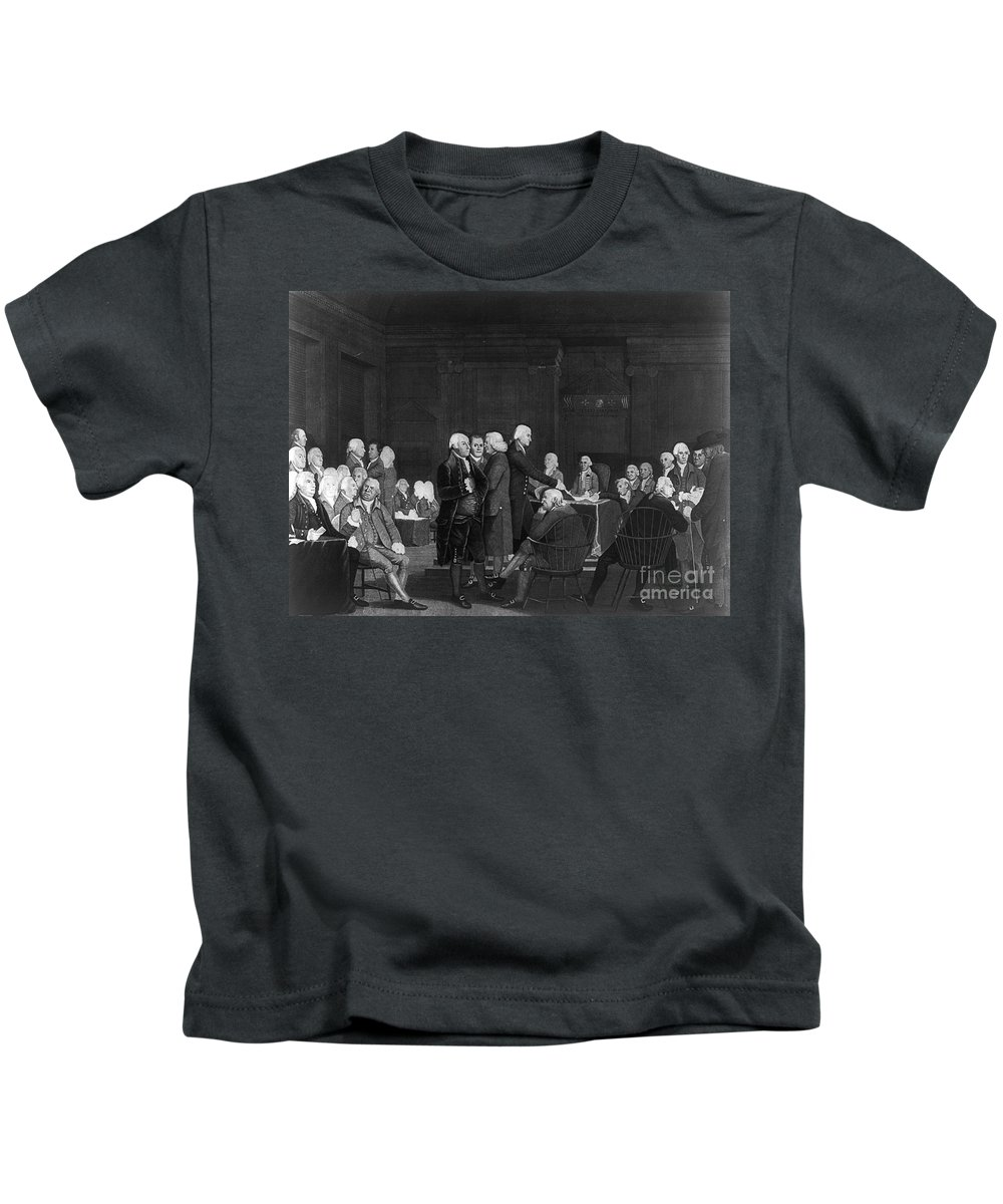 1776 Kids T-Shirt featuring the photograph Voting Independence, 1776 by Granger