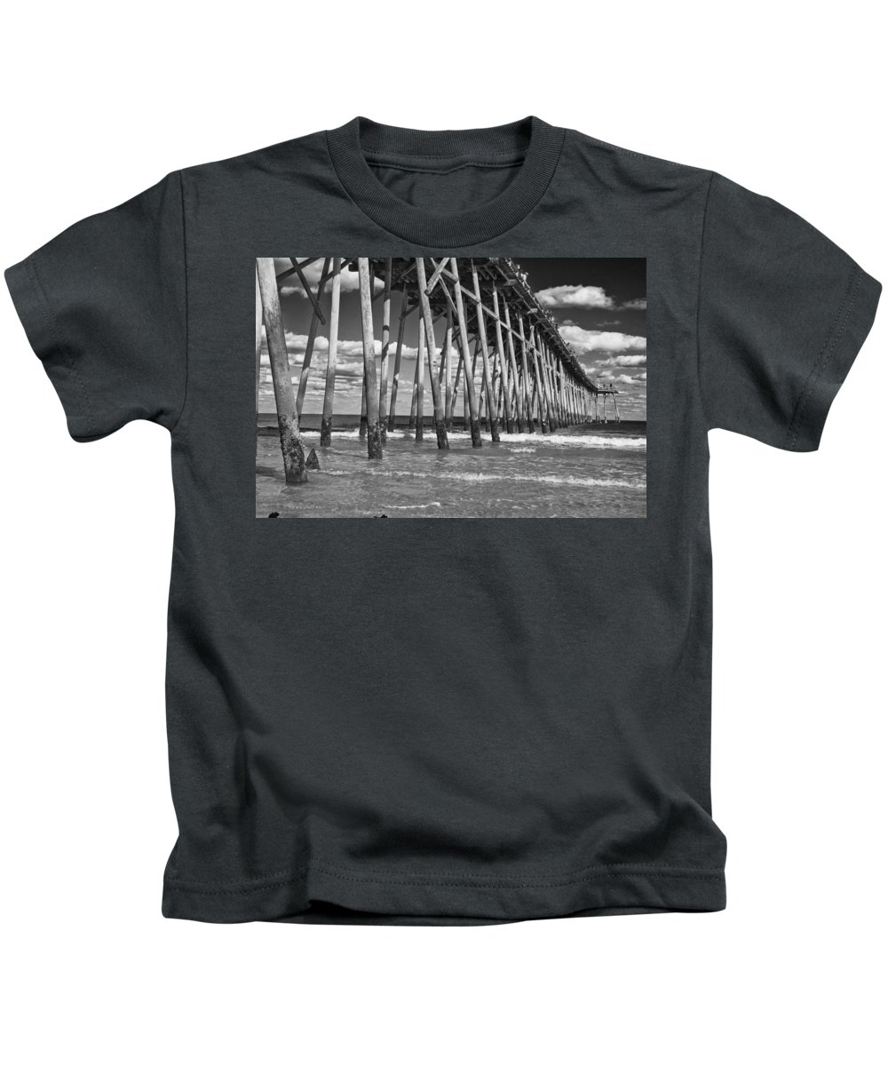Pier Kids T-Shirt featuring the photograph Watchful by Betsy Knapp