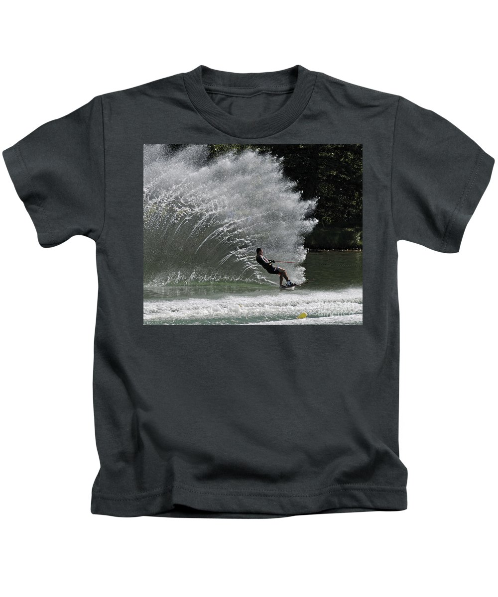 Water Skiing Kids T-Shirt featuring the photograph Water Skiing 20 by Vivian Christopher