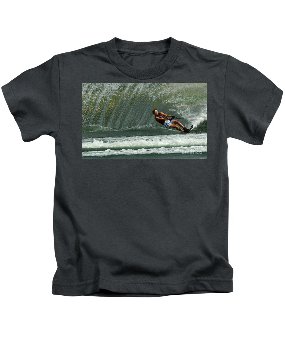 Water Skiing Kids T-Shirt featuring the photograph Water Skiing Magic Of Water 1 by Bob Christopher