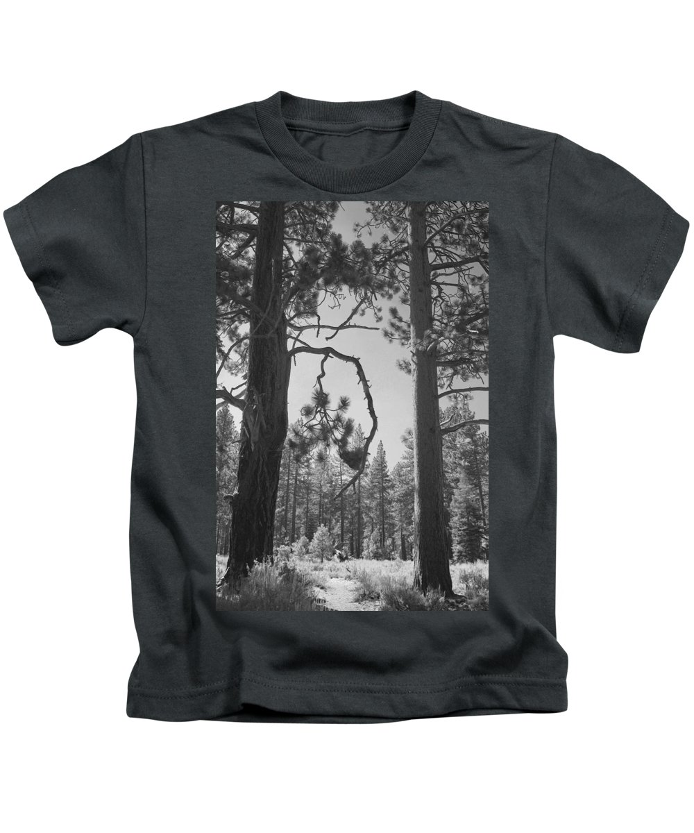 Lake Tahoe Kids T-Shirt featuring the photograph We Two by Laurie Search
