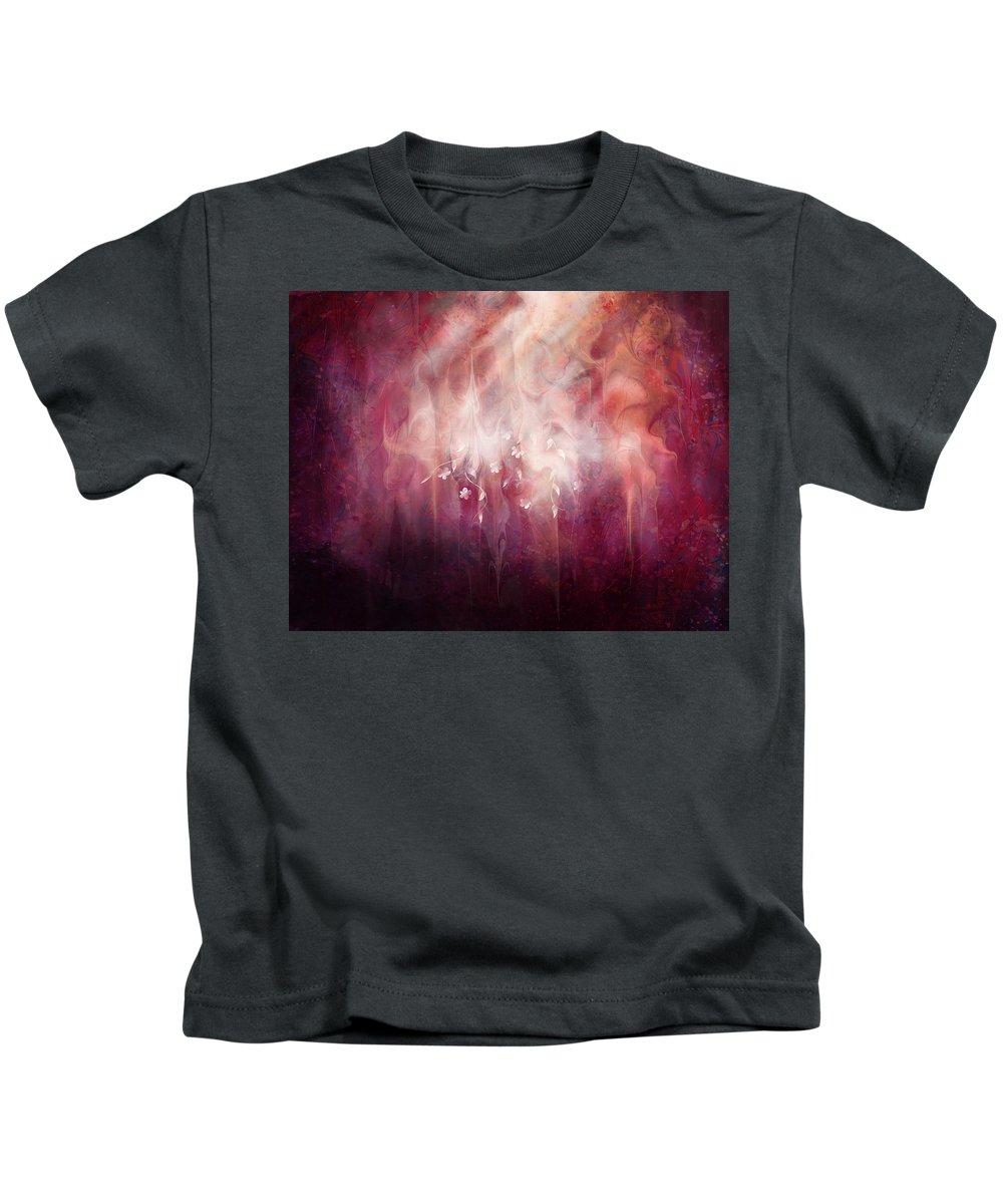 Landscape Kids T-Shirt featuring the digital art Weight Of Glory by Rachel Christine Nowicki