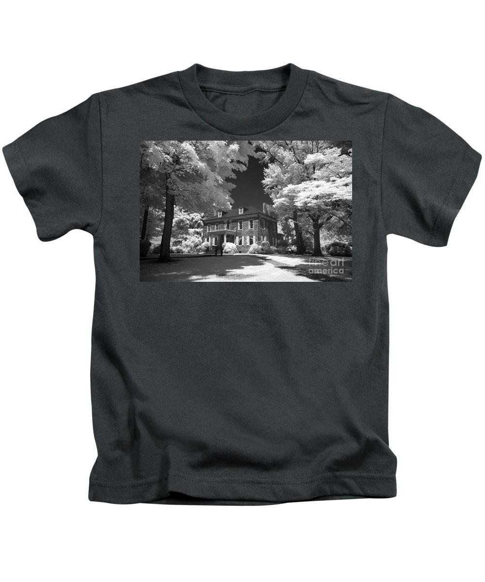 Infrared Kids T-Shirt featuring the photograph Wheatland - James Buchanan's Home by Paul W Faust - Impressions of Light