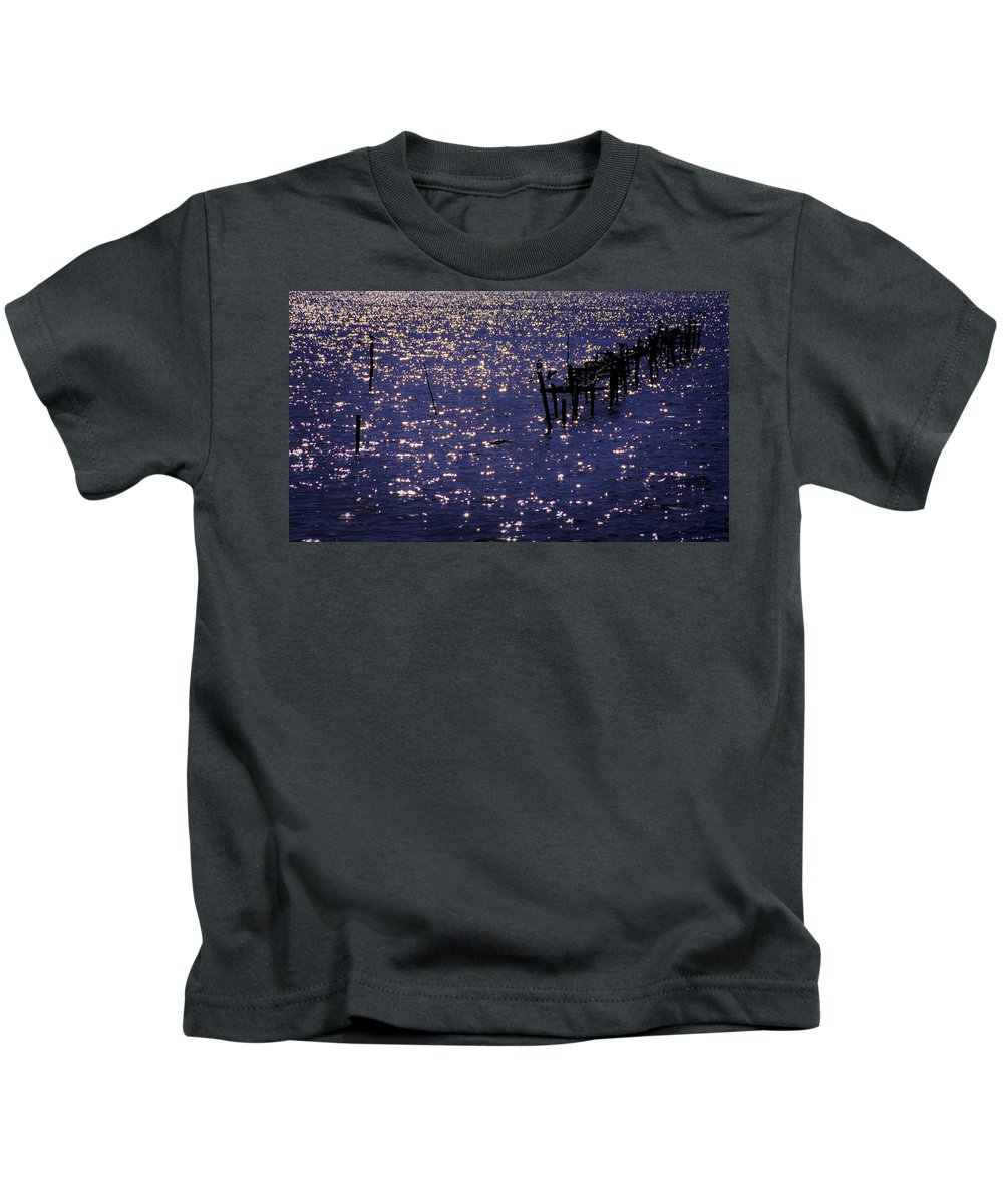 Lake Kids T-Shirt featuring the photograph When A Day Ends by Michele Mule'