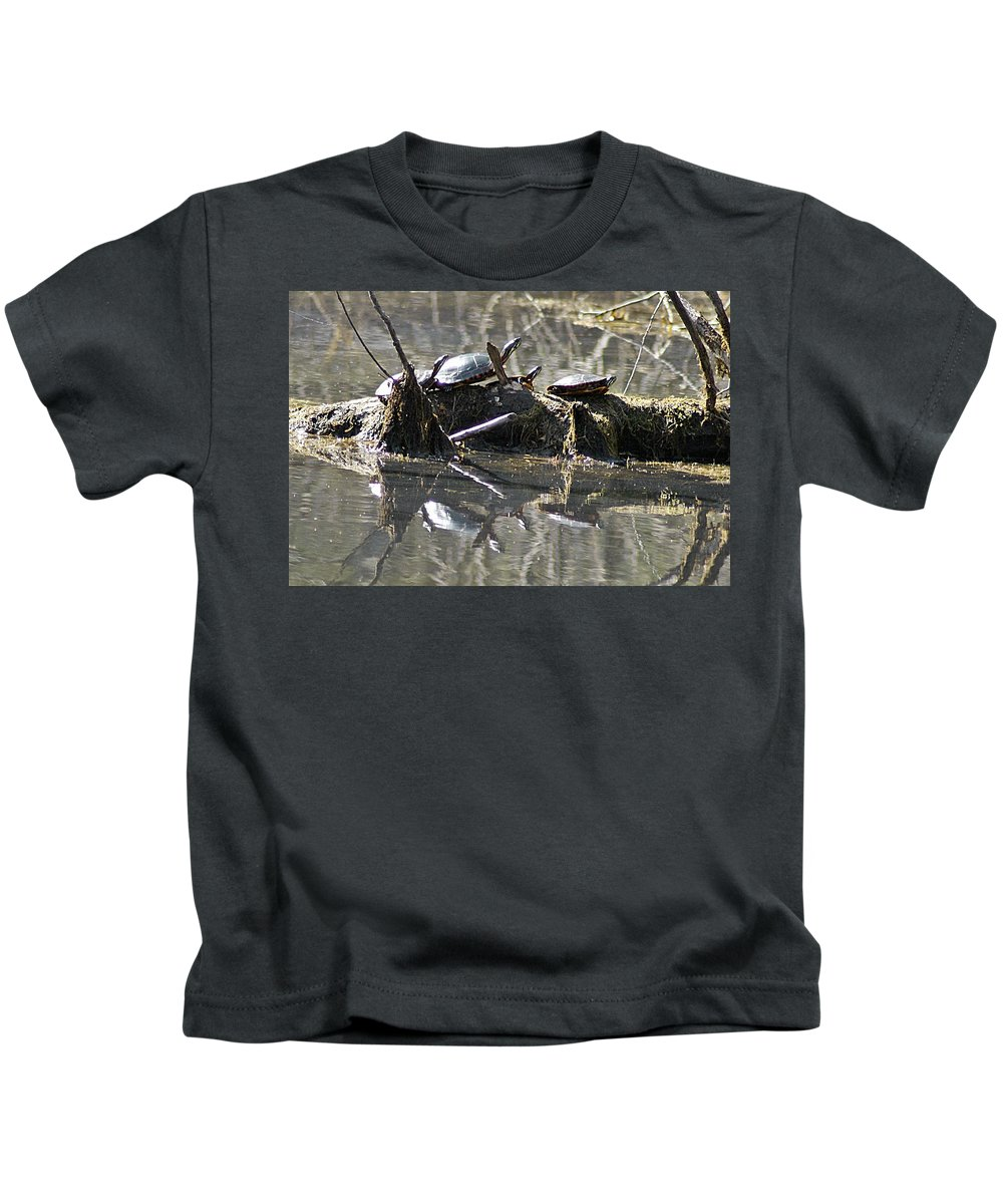 Horn Pond Kids T-Shirt featuring the photograph Where Is The Sunblock by Joe Faherty