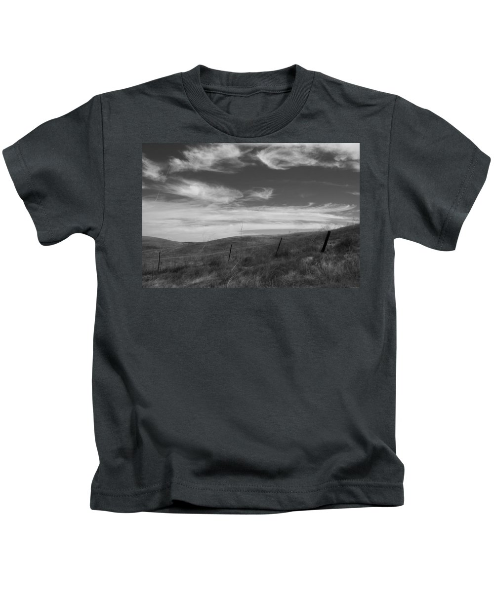 Hills Kids T-Shirt featuring the photograph Whipping Up The Hillside by Kathleen Grace