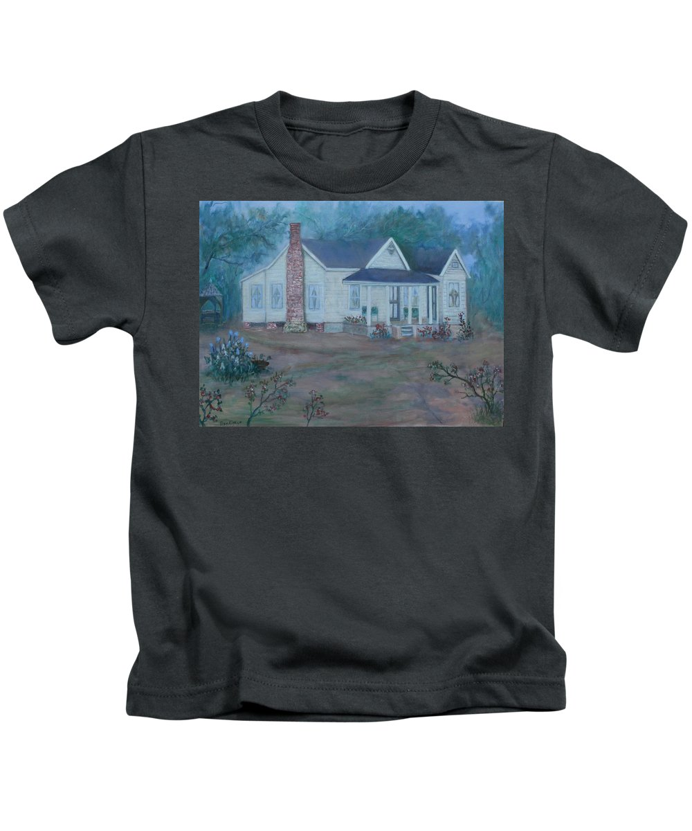 Landscape Kids T-Shirt featuring the painting Wilson Homestead by Ben Kiger