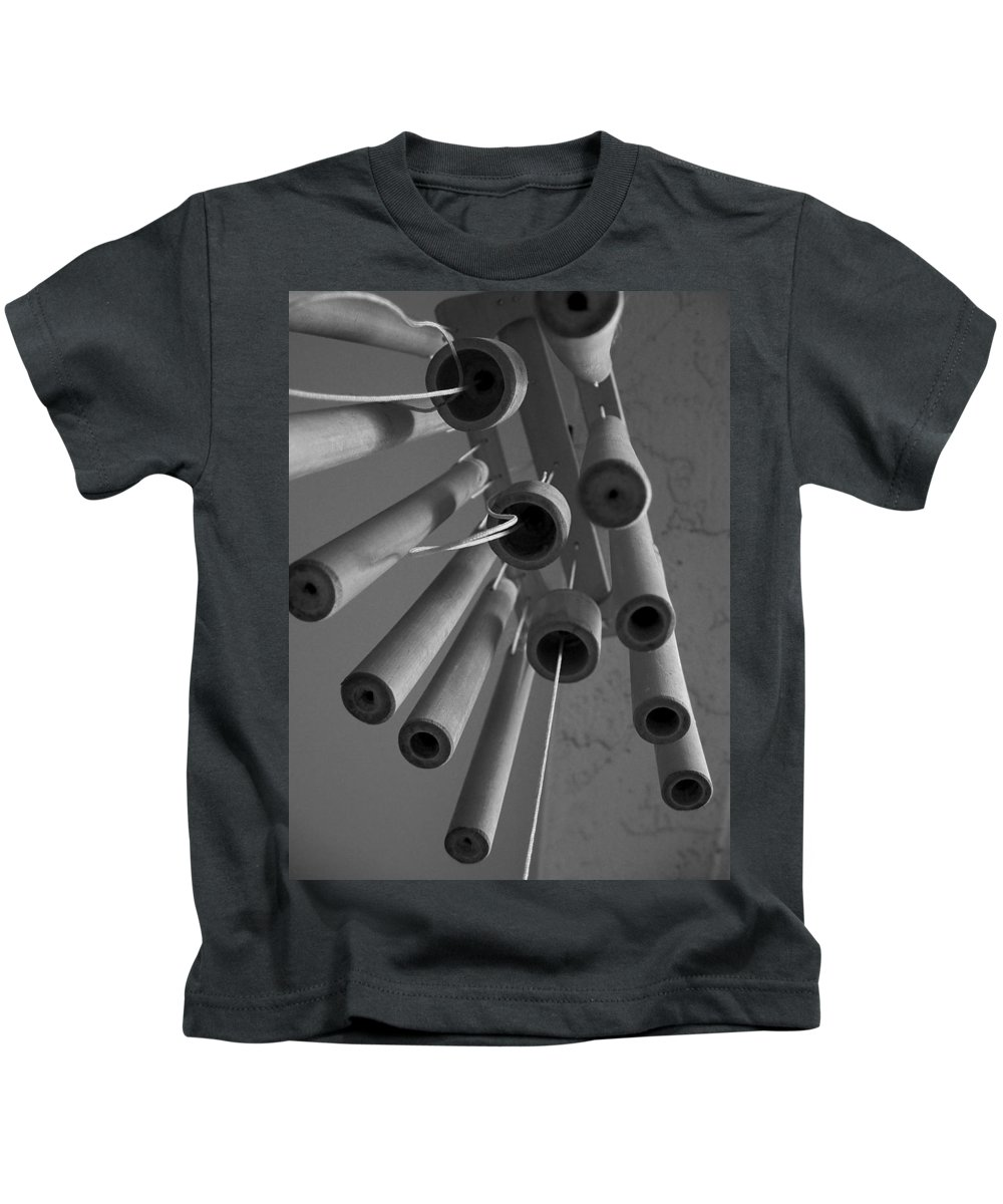 Windchime Kids T-Shirt featuring the photograph Windchime 2 by David Weeks