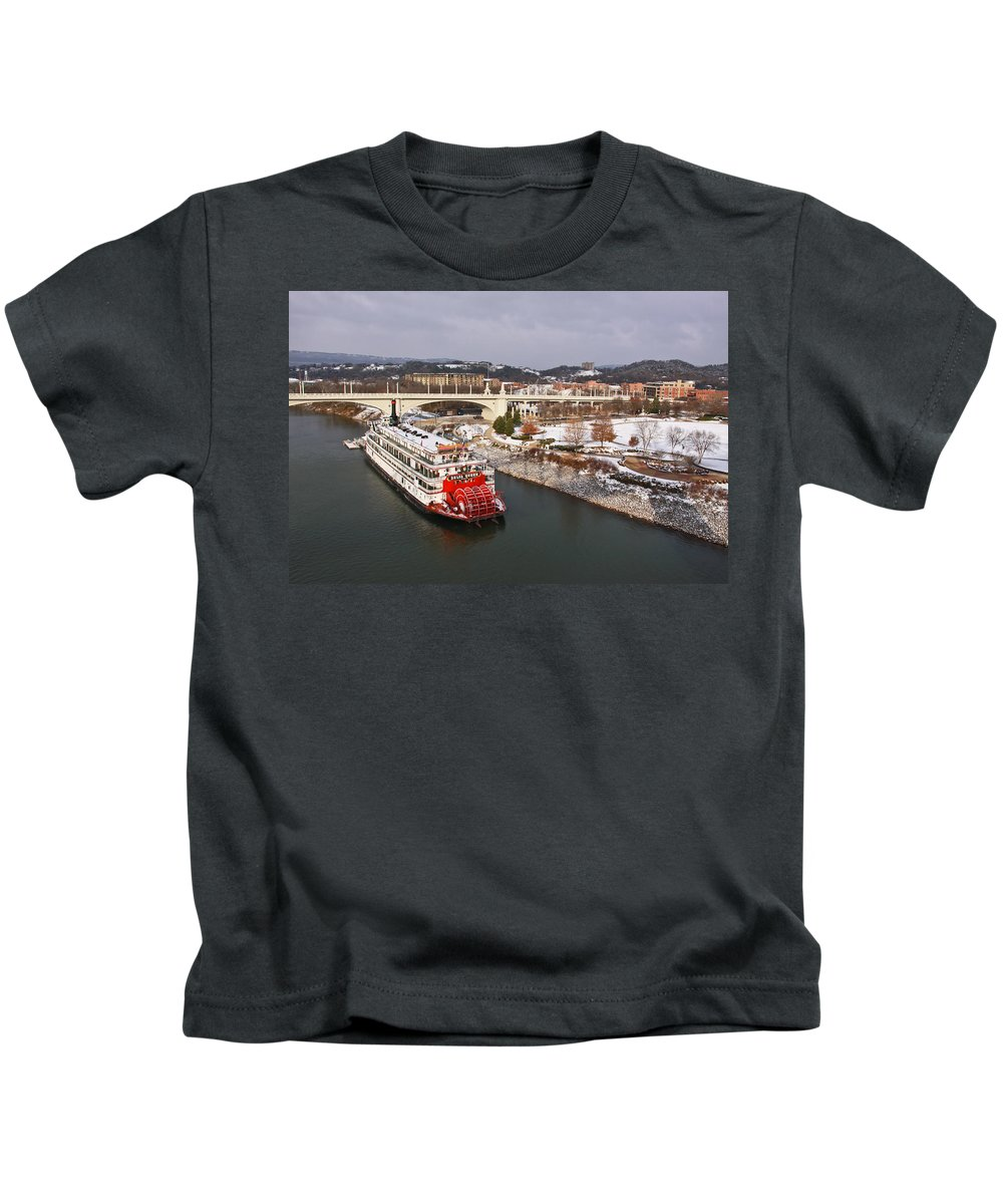 Winter Kids T-Shirt featuring the photograph Winter In Coolidge Park by Tom and Pat Cory