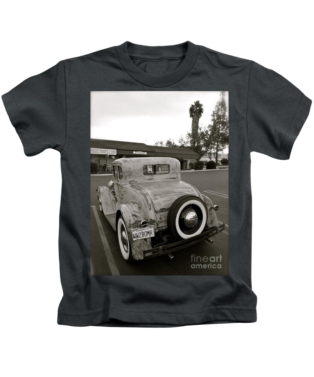 Retro Kids T-Shirt featuring the photograph Ww2bomr by Customikes Fun Photography and Film Aka K Mikael Wallin