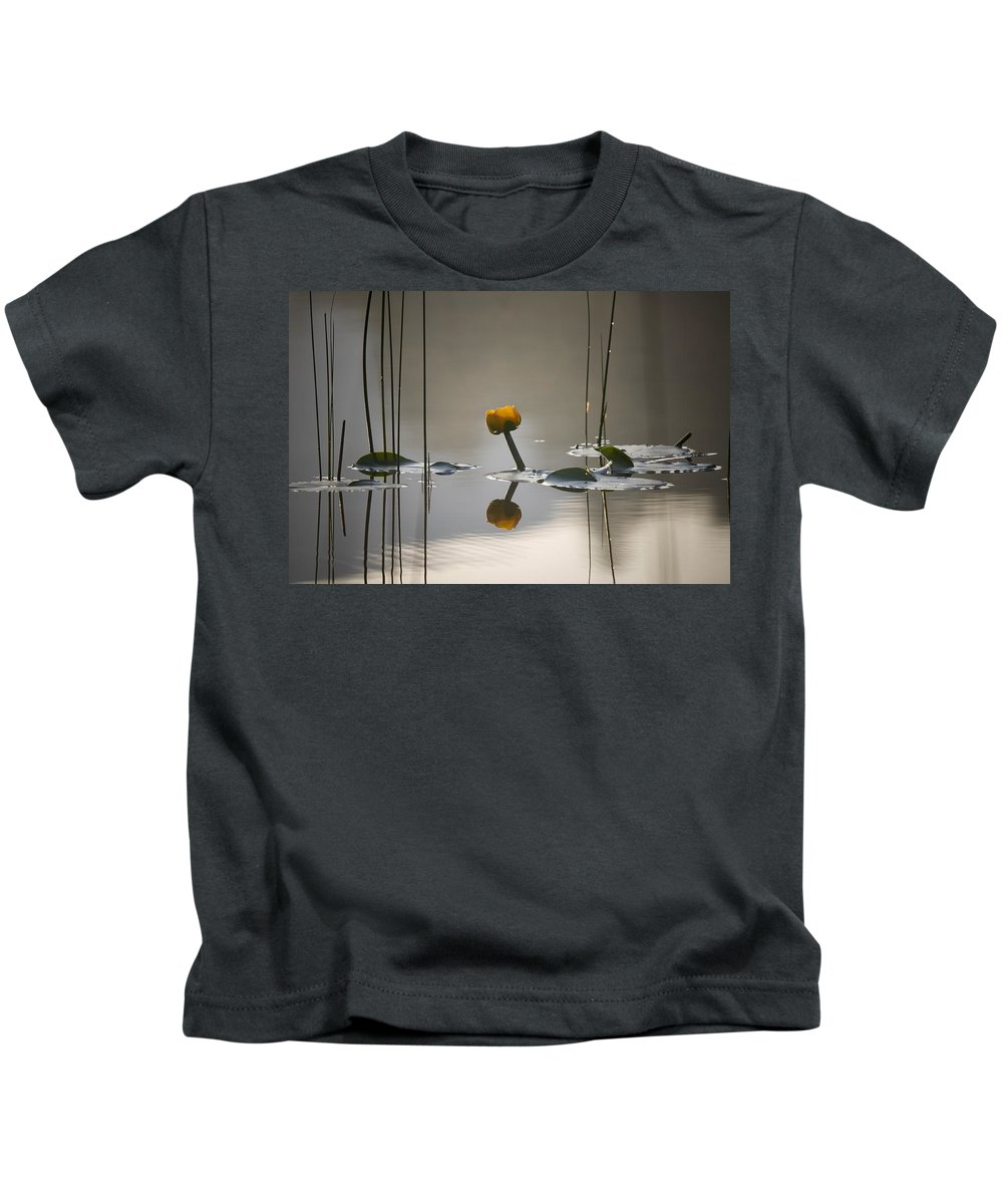 Lily Kids T-Shirt featuring the photograph Yellow by Martin Cooper