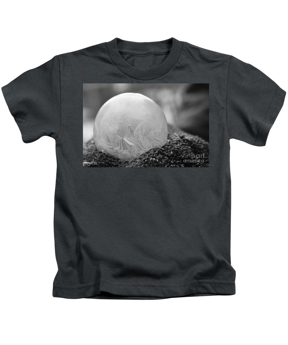 Bubble Kids T-Shirt featuring the photograph A February Bubble by Julie Street