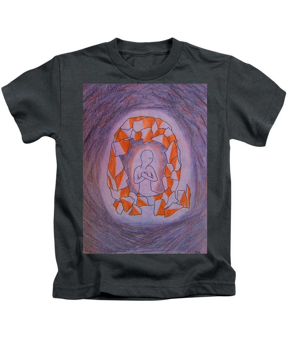 Abuse Kids T-Shirt featuring the drawing Exposed by Deahn   Benware