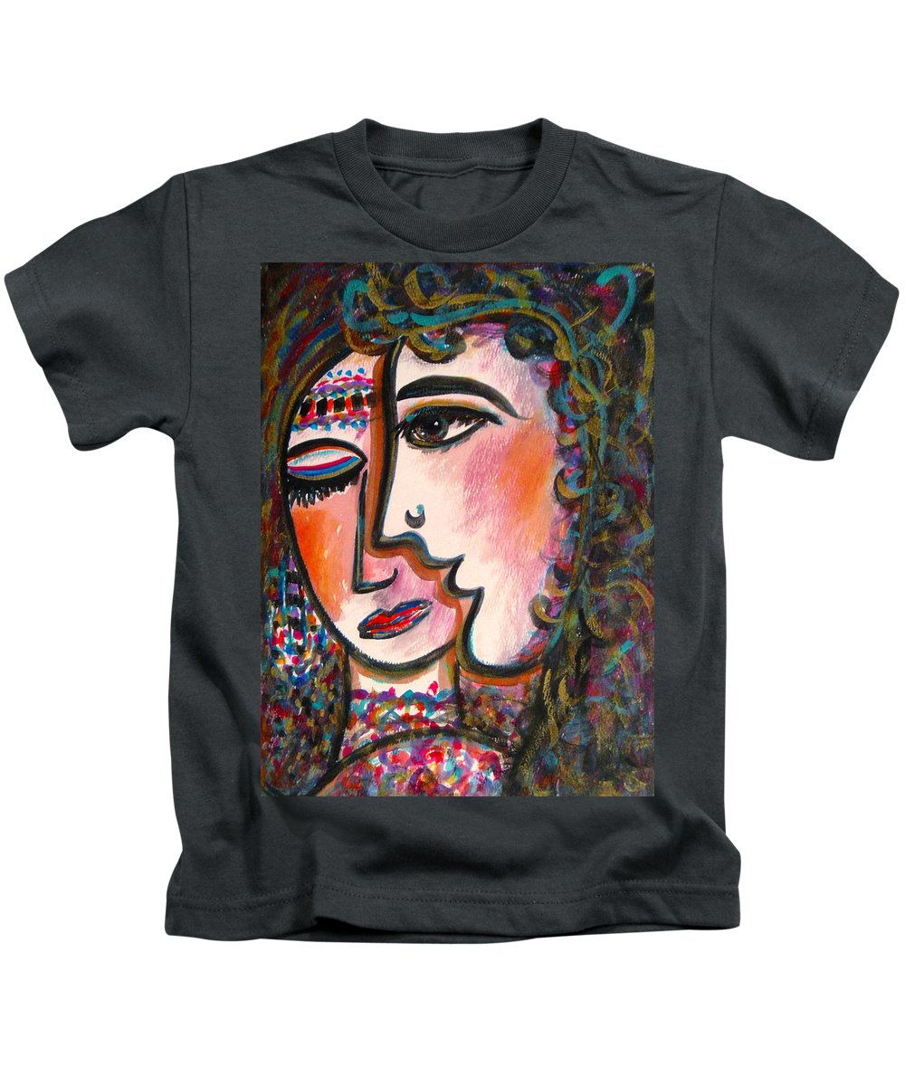 Lovers Kids T-Shirt featuring the painting Lovers by Natalie Holland