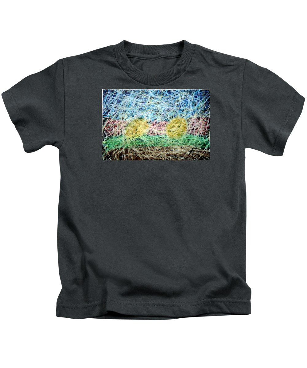 Kids T-Shirt featuring the painting 31 by Terry Wiklund