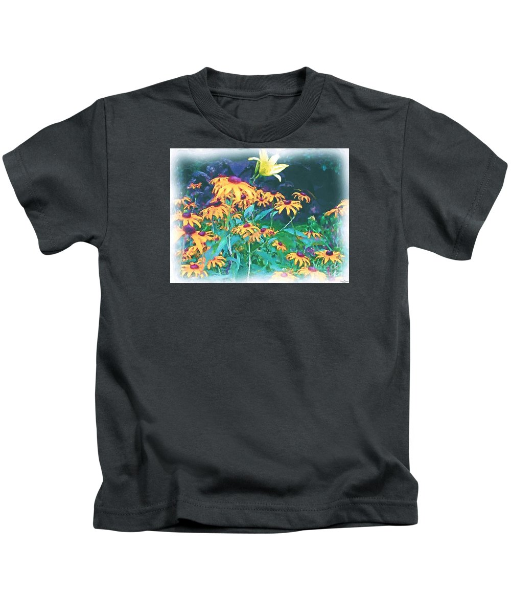 Mixed Media Kids T-Shirt featuring the painting A Lily In The Field by Patricia Griffin Brett