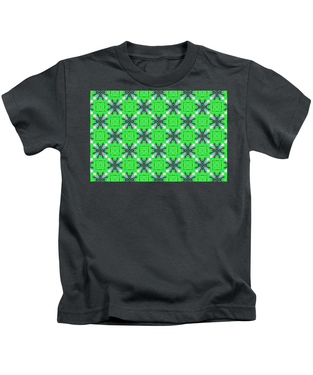 Marjan Mencin Kids T-Shirt featuring the digital art Arabesque 096 by Marjan Mencin