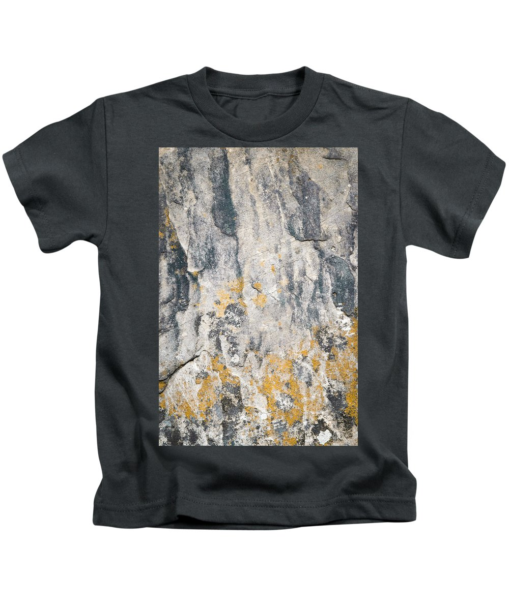 Material Kids T-Shirt featuring the photograph Abstract Texture Old Plaster by Jozef Jankola