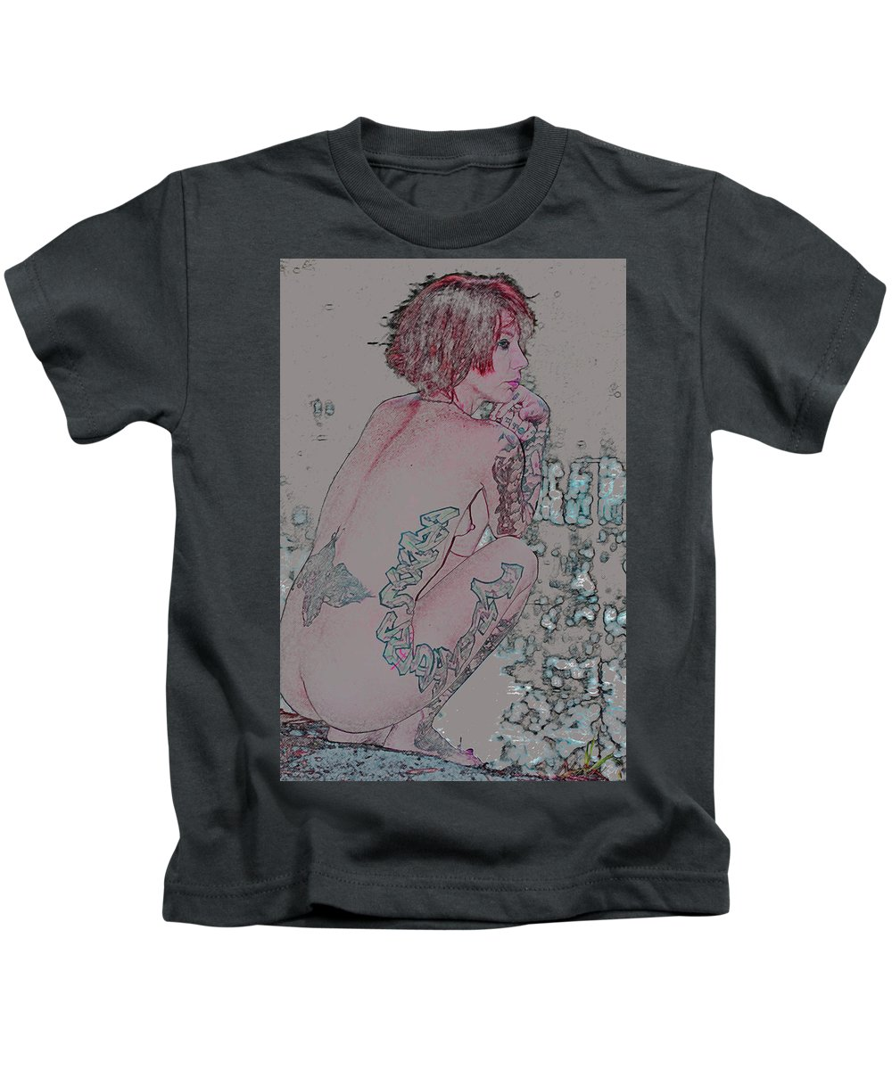 Nude Kids T-Shirt featuring the photograph Adeline by Robert Magnus