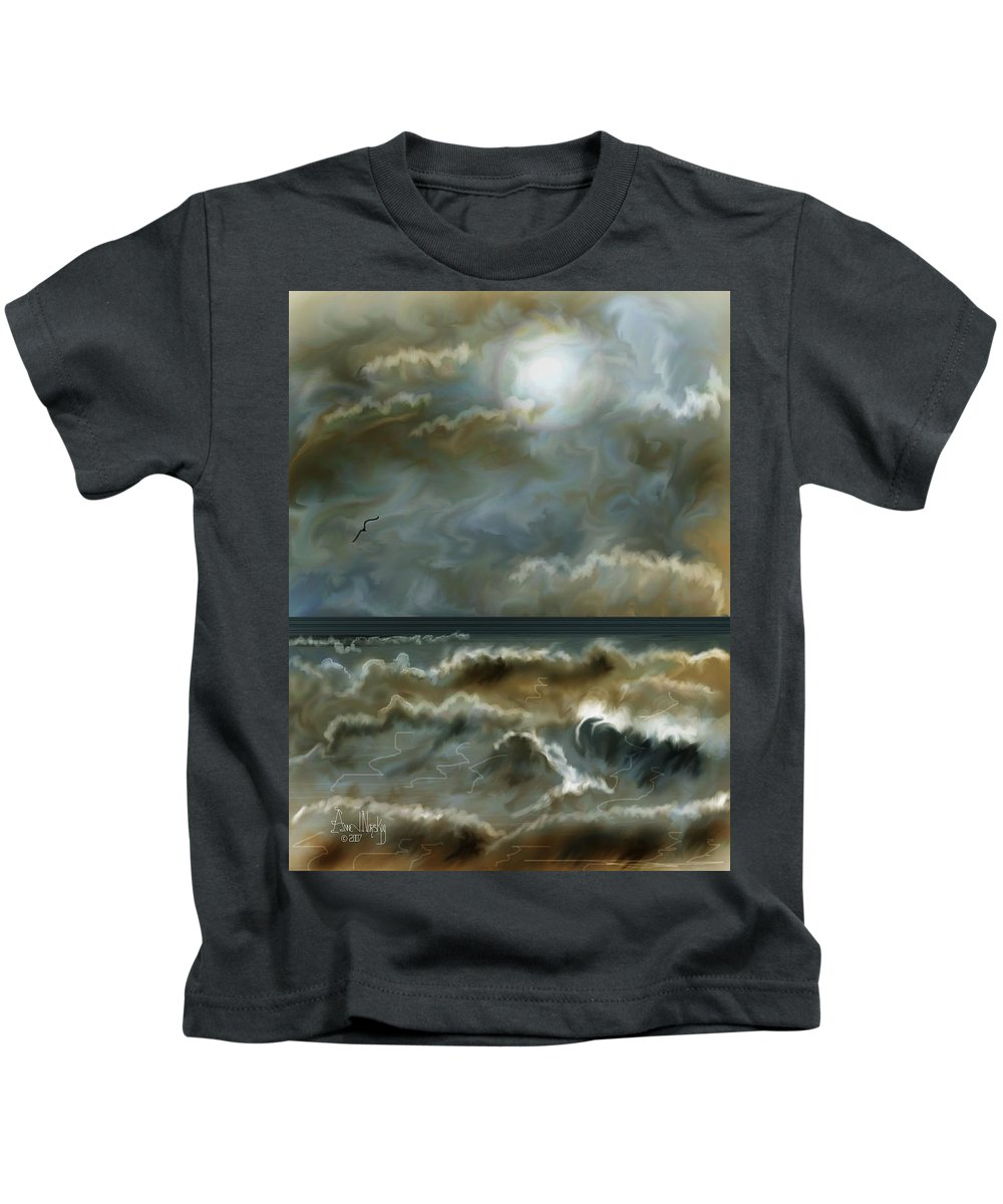 Seascape Kids T-Shirt featuring the painting After The Squall by Anne Norskog