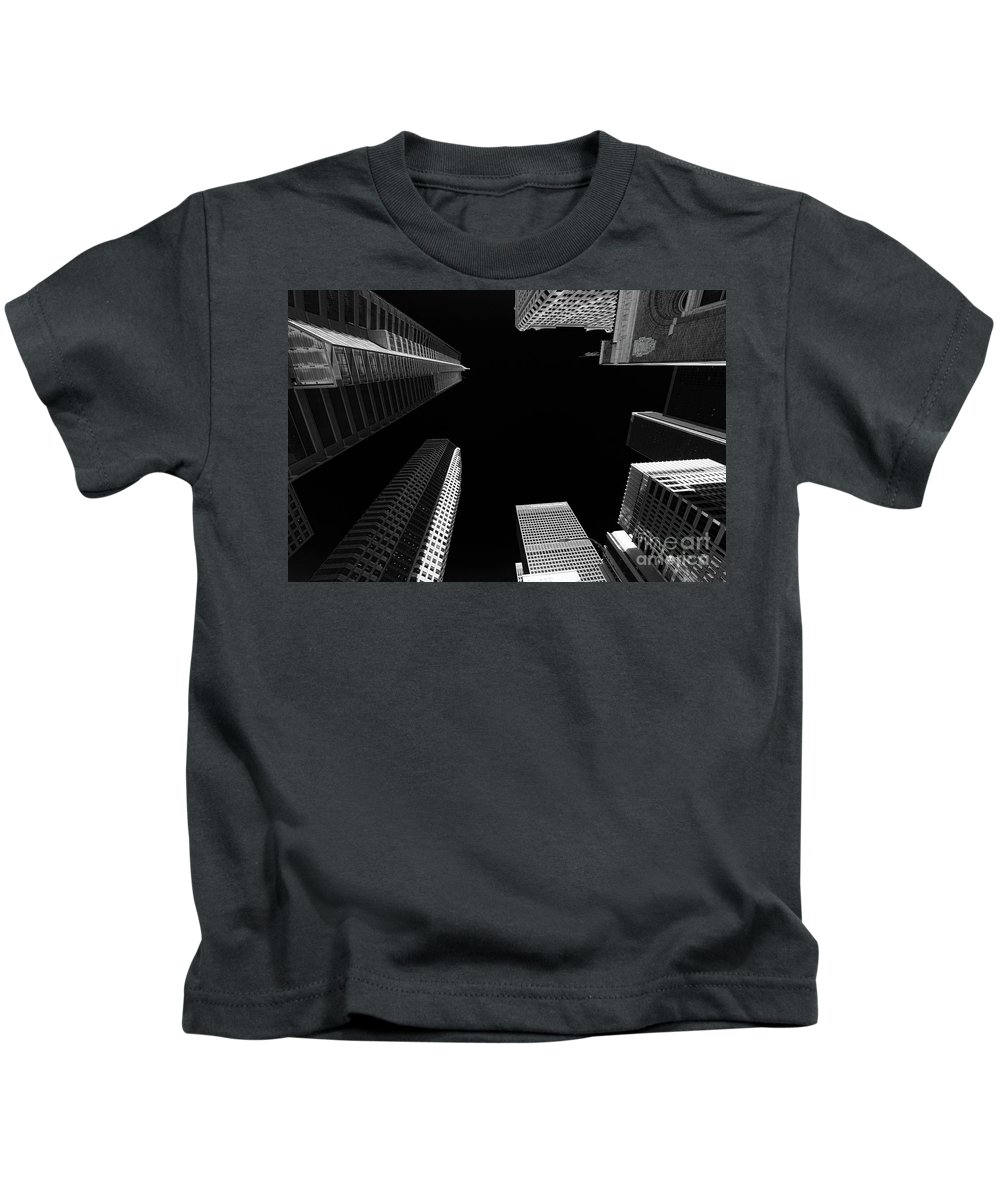 Architecture Kids T-Shirt featuring the photograph Architecture Black White by Chuck Kuhn