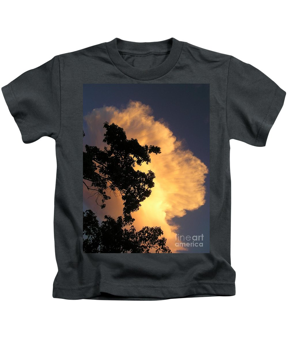 Clouds Kids T-Shirt featuring the photograph August Thunder by Maria Bonnier-Perez