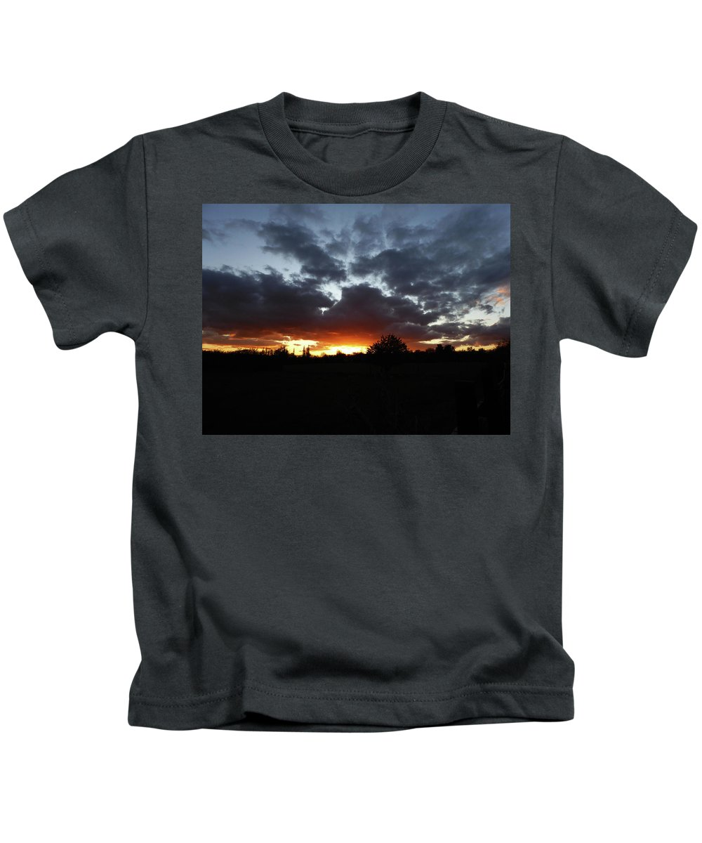 Autumn Kids T-Shirt featuring the photograph Autumn Sunset by Carol Lynch