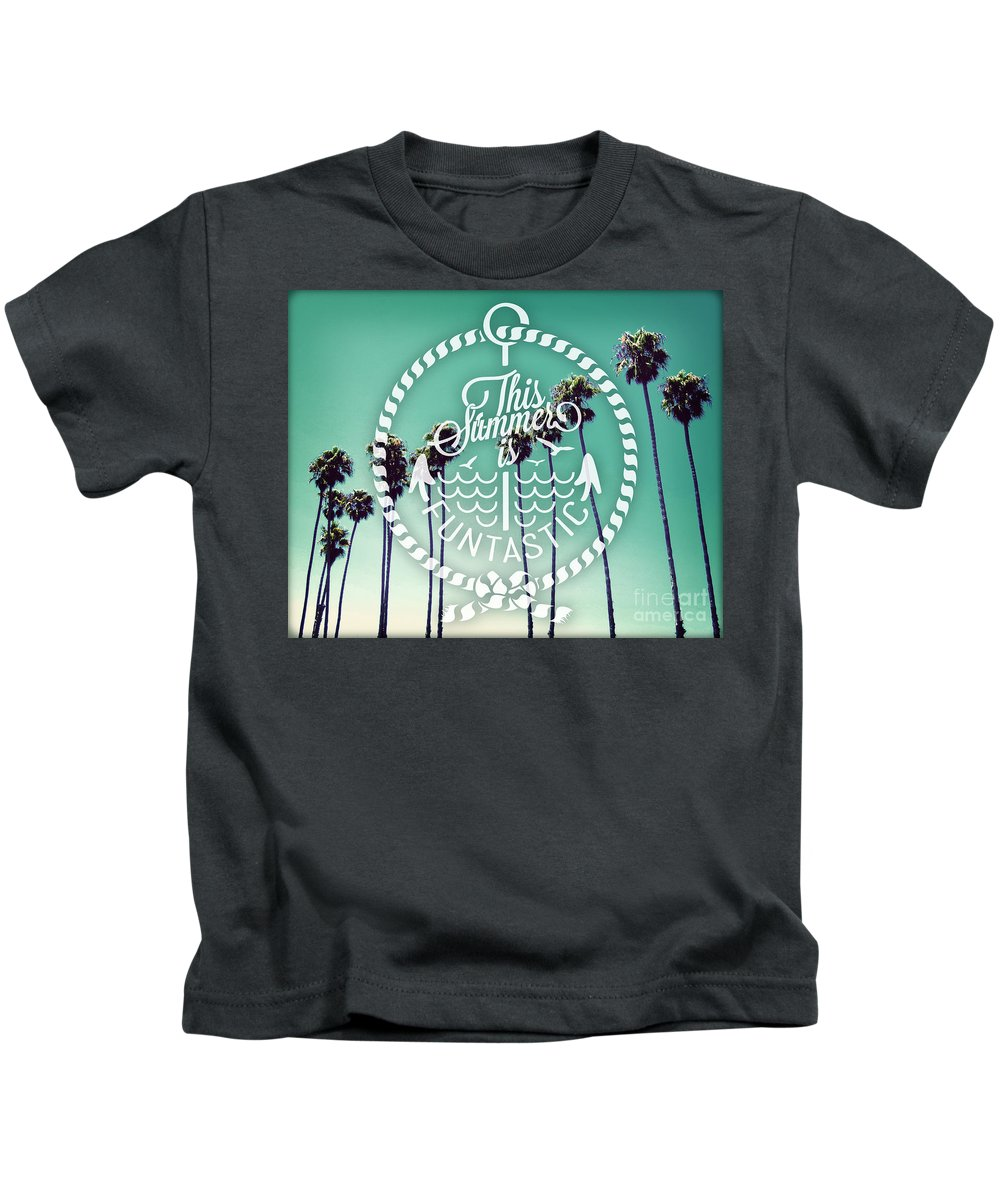 Quote Kids T-Shirt featuring the photograph California Palms I by Chris Andruskiewicz