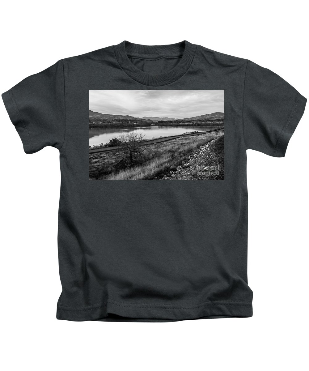 United States Of America Kids T-Shirt featuring the photograph Columbia River by Kayme Clark