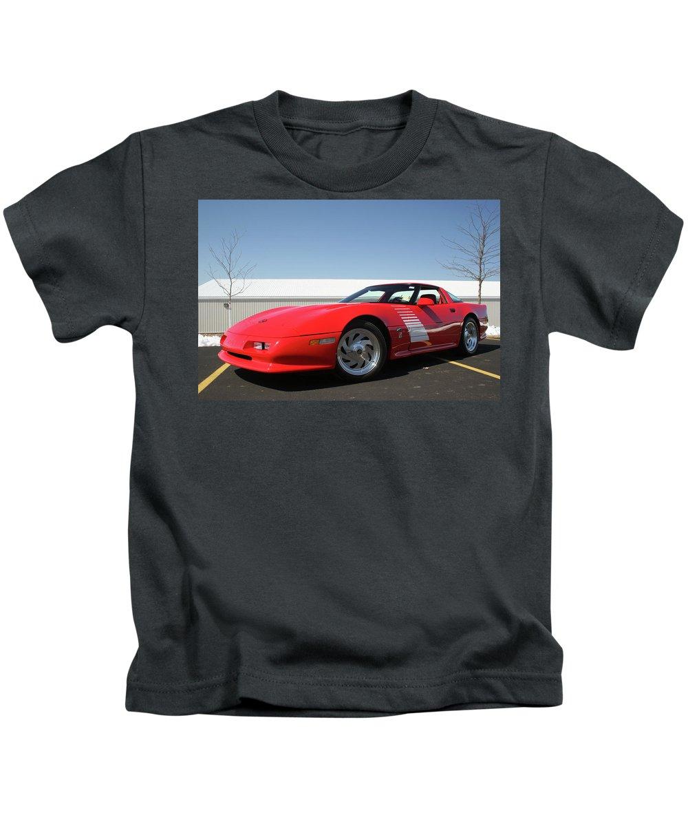 Corvette Kids T-Shirt featuring the digital art Corvette by Dorothy Binder