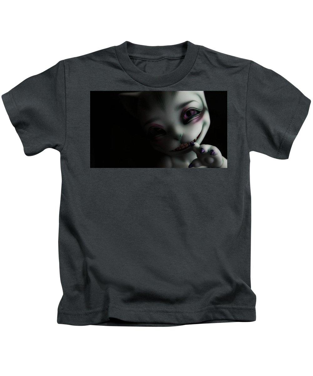 Creepy Kids T-Shirt featuring the digital art Creepy by Dorothy Binder
