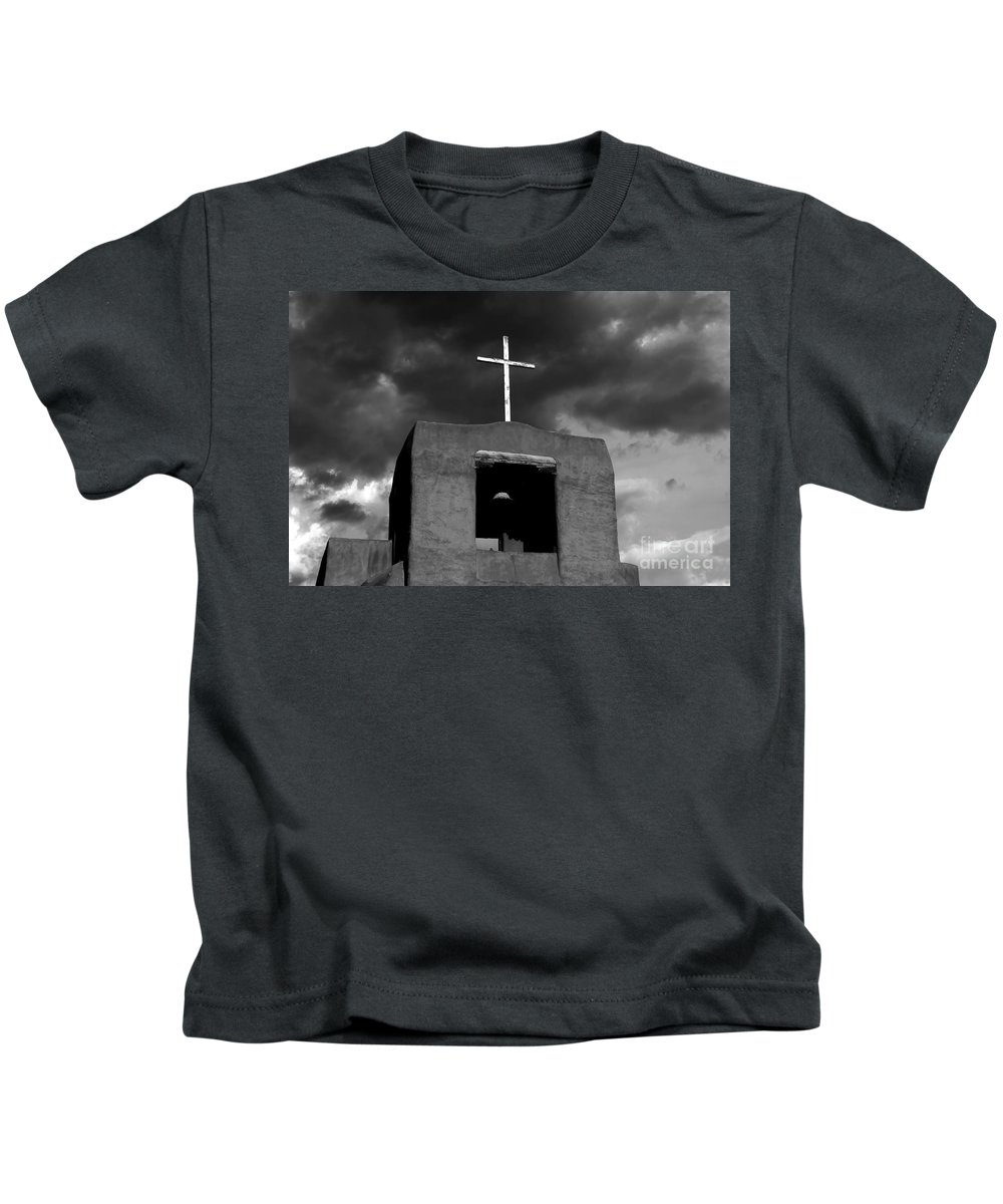 Cross Kids T-Shirt featuring the photograph Cross And Bell by David Lee Thompson