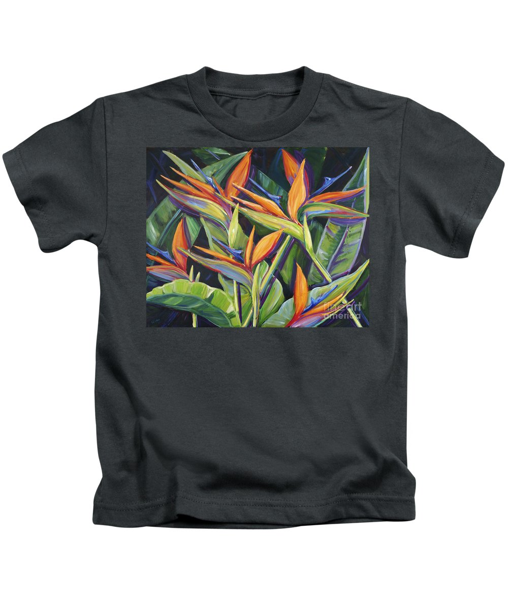 Acrylic Kids T-Shirt featuring the painting Dancing Birds by Patti Bruce - Printscapes