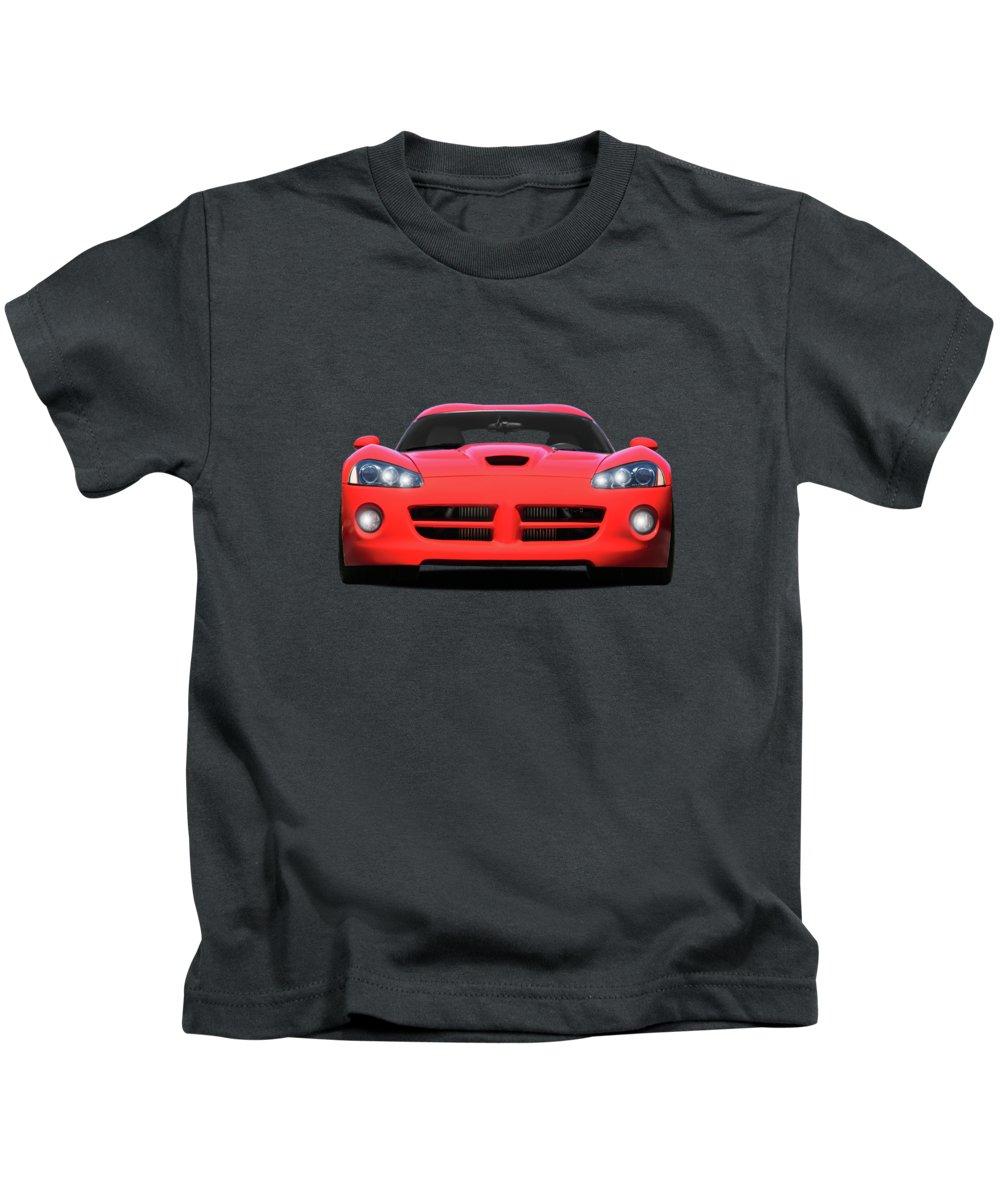 Dodge Viper Kids T-Shirt featuring the photograph Dodge Viper by Mark Rogan