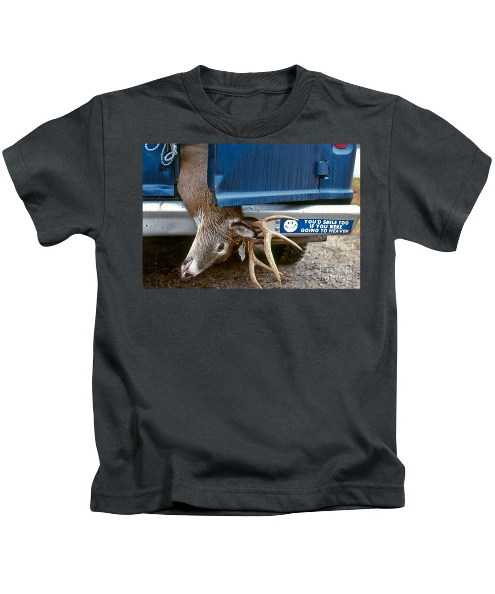Deer Kids T-Shirt featuring the photograph Eternal Reward by Thomas Marchessault