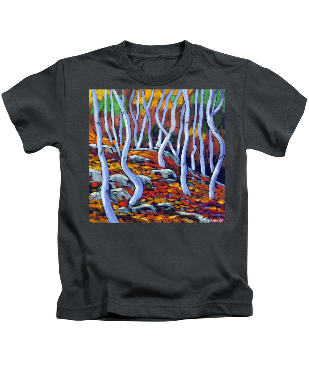 Art Kids T-Shirt featuring the painting Fantaisie No 6 by Richard T Pranke