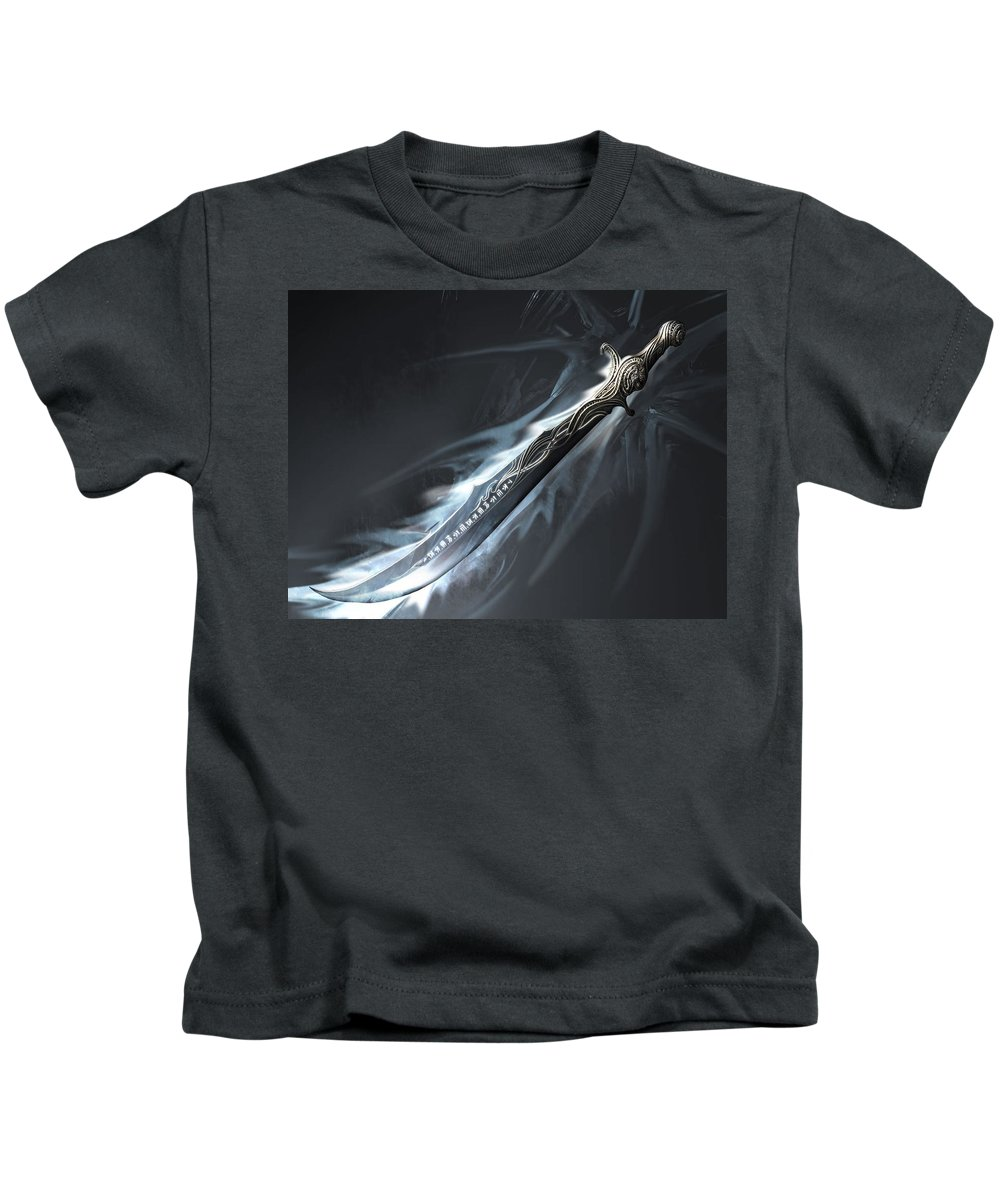 Fantasy Kids T-Shirt featuring the digital art Fantasy by Dorothy Binder