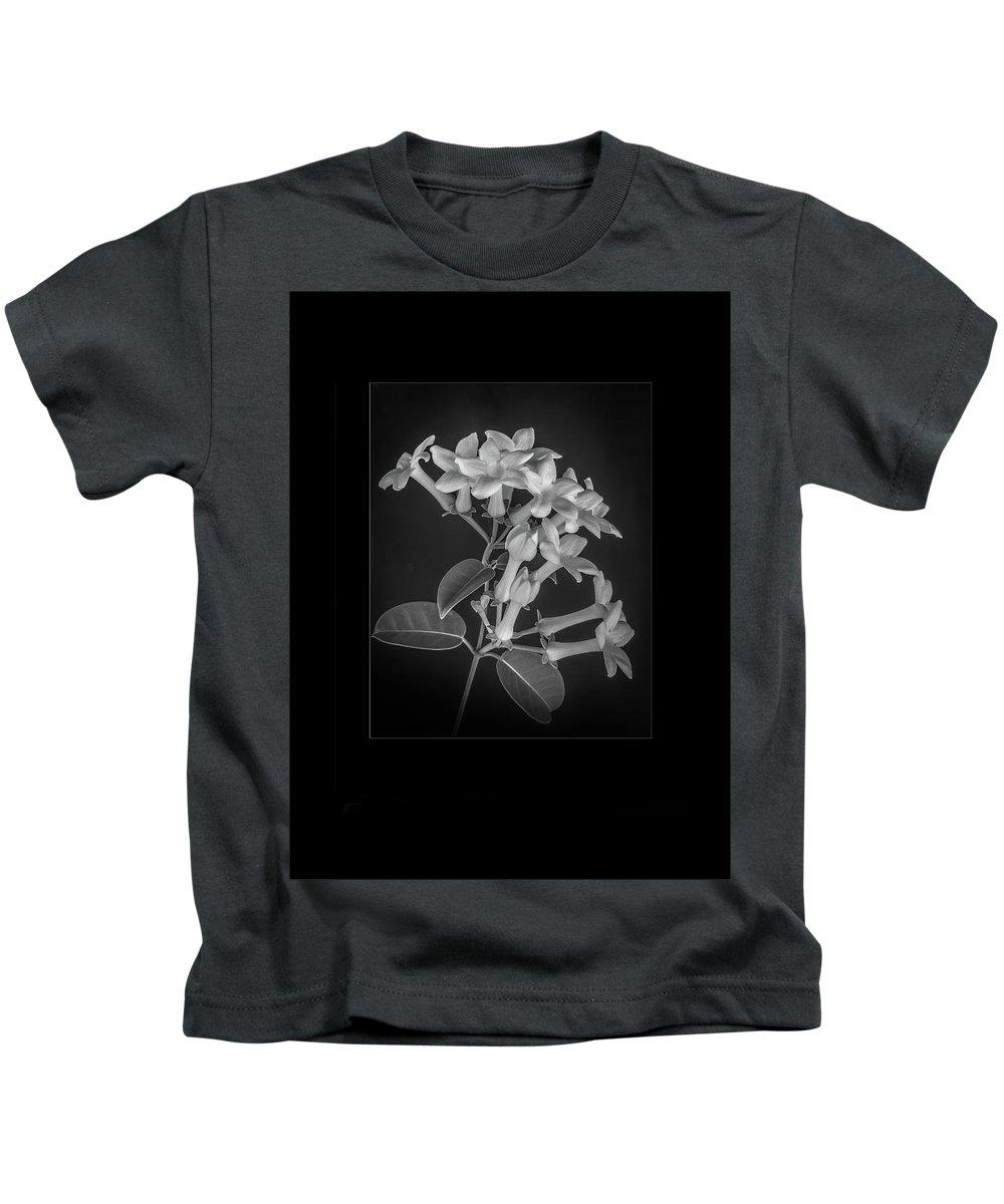 Estephanotis Kids T-Shirt featuring the photograph Fine Art Framed Study Of Estephanotis- by Peter Hayward Photographer