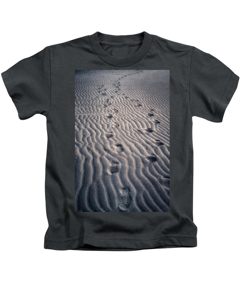 Footprint Kids T-Shirt featuring the photograph Footprints by Joana Kruse