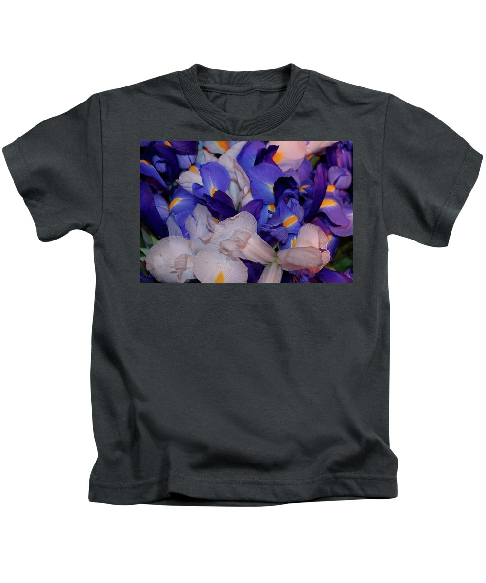 Iris Kids T-Shirt featuring the photograph For The Love Of Van Gogh by Michiale Schneider