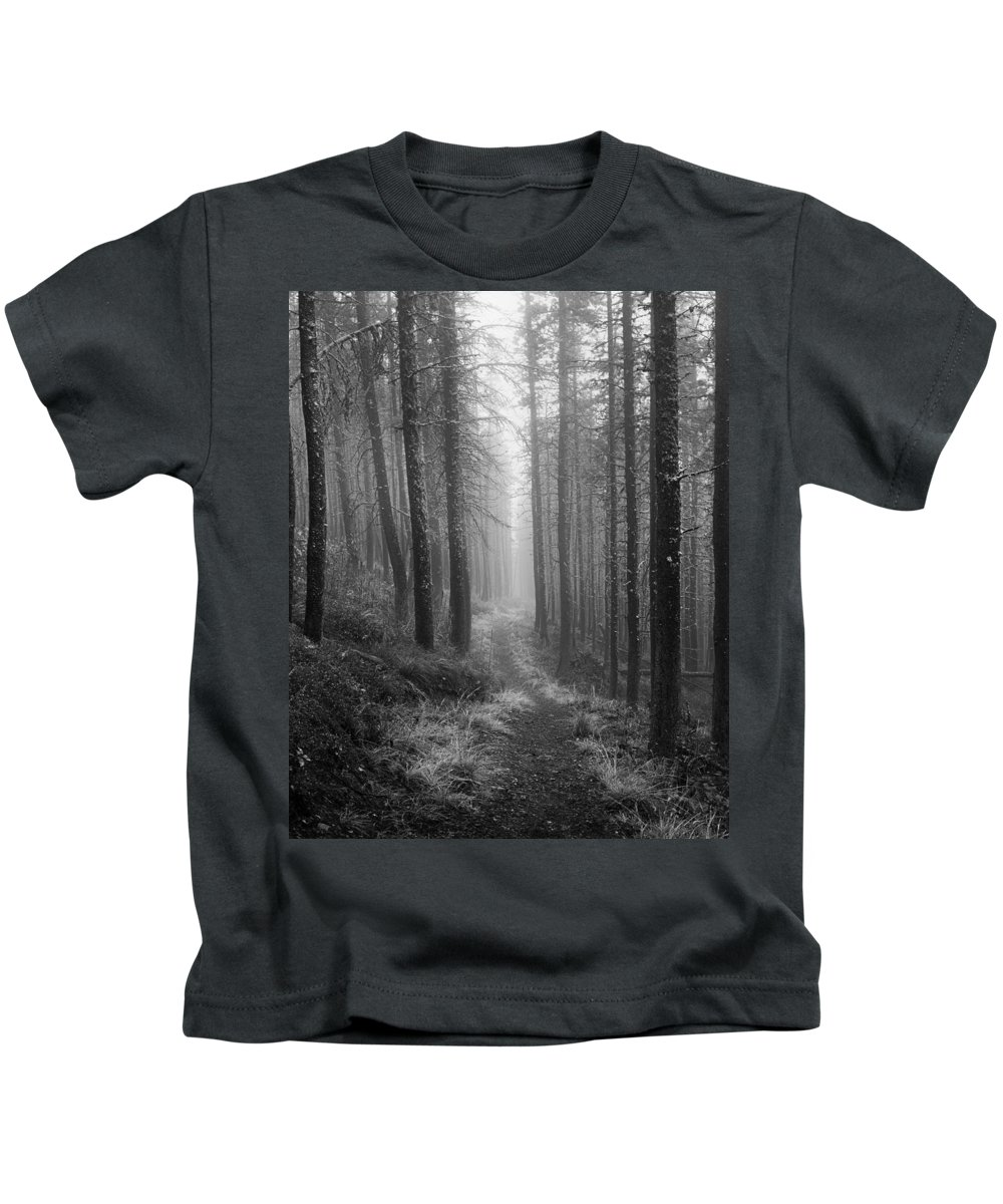 Rodgers Pass Kids T-Shirt featuring the photograph Forest Path by Leland D Howard