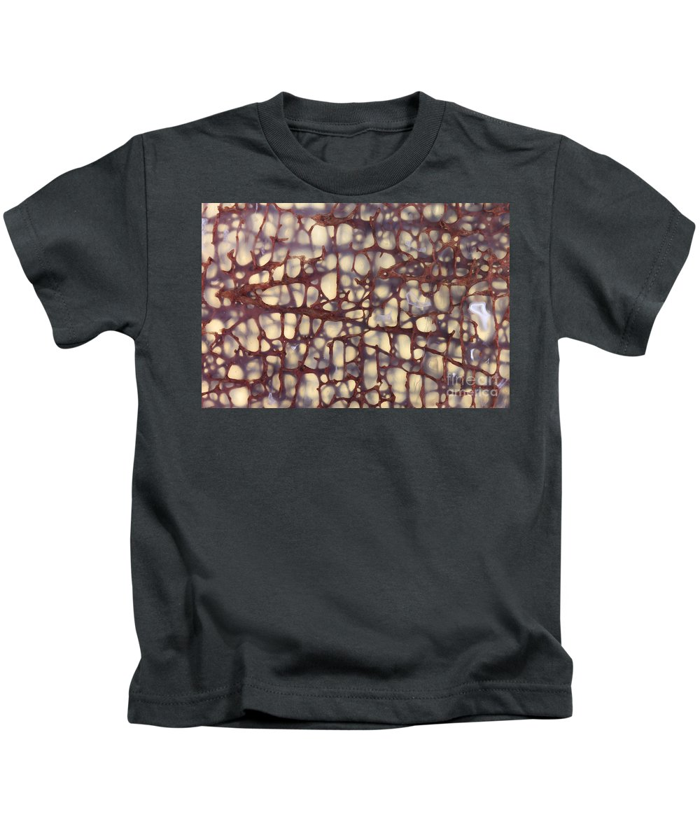 Dinosaur Kids T-Shirt featuring the photograph Fossilized Dinosaur Bone by Ted Kinsman