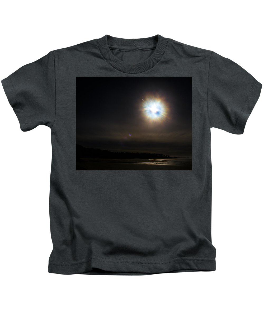 Kids T-Shirt featuring the photograph Full Moon Bastendorff by Angus Hooper Iii