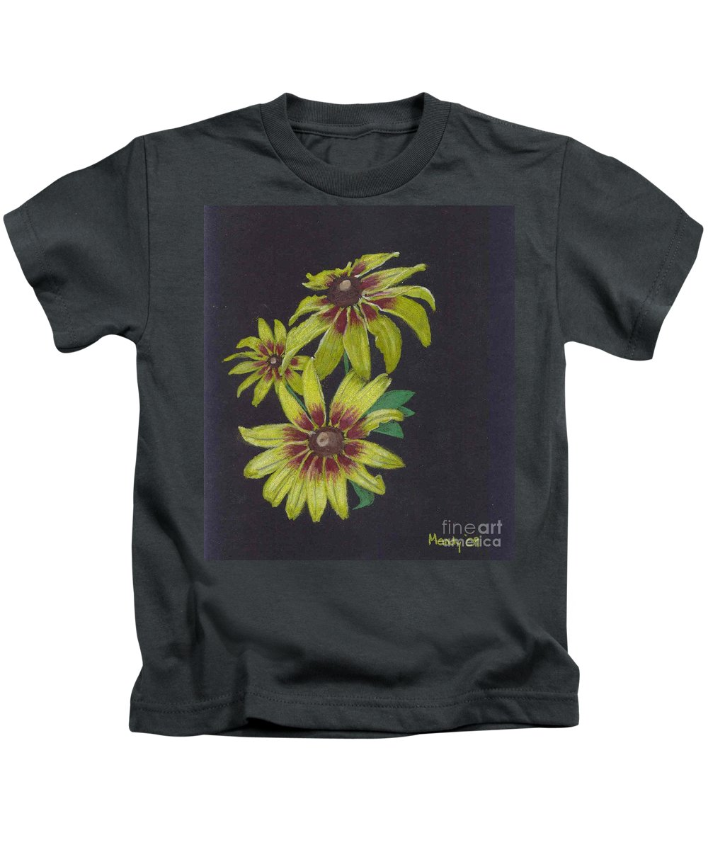 Daisy Kids T-Shirt featuring the pastel Gloriosa Daisy by Mendy Pedersen