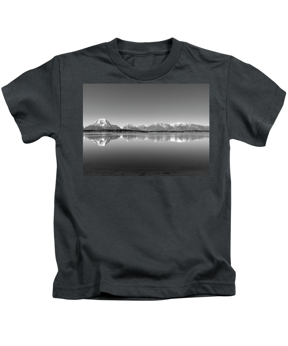 Landscape Kids T-Shirt featuring the photograph Grand Tetons by Lindy Pollard